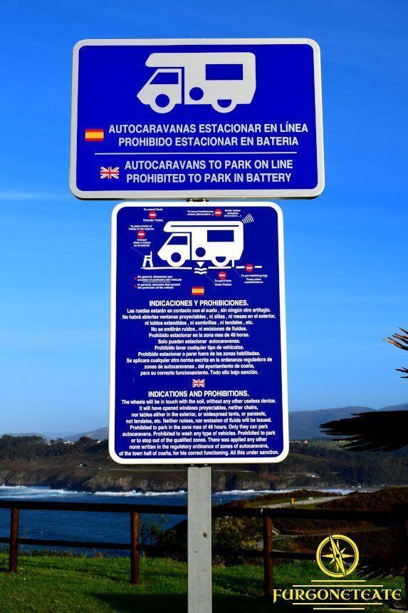 Autocaravanas mapa viaje servicios