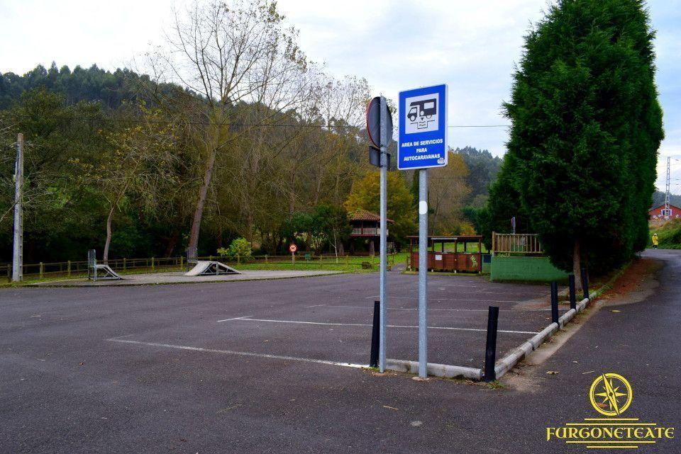 Área de Autocaravanas de Candás, Carreño ( Asturias )